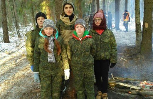 Участие ребят в военно-тактической игре в честь Арх. Михаила