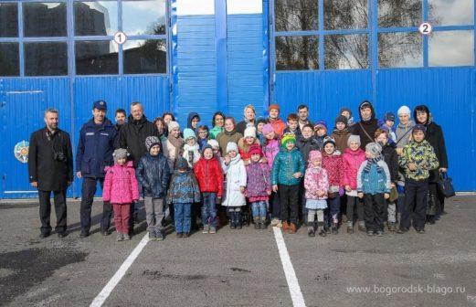 Экскурсия в пожарное депо г. Ногинска